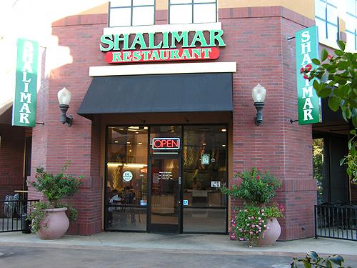 Shalimar Restaurant Sacramento Menu
